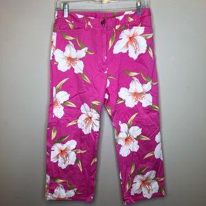 Lauren Ralph Lauren |Pink Floral Pants Capris